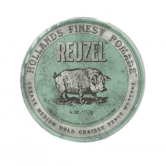 REUZEL Green Medium Hold Pommade pour cheveux 113g