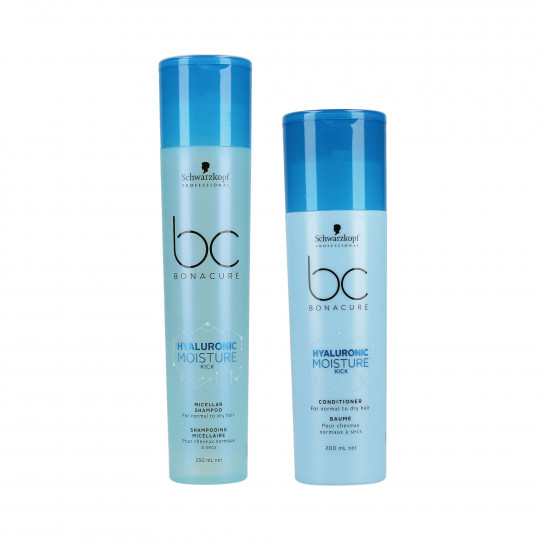 SCHWARZKOPF PROFESSIONAL BC HYALURONIC MOISTURE KICK Set Shampooing 250 ml + Conditionneur 200 ml - 1