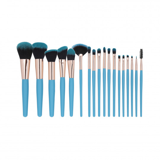 MIMO by Tools For Beauty, Set de 18 pinceaux à maquillage, Bleu - 1
