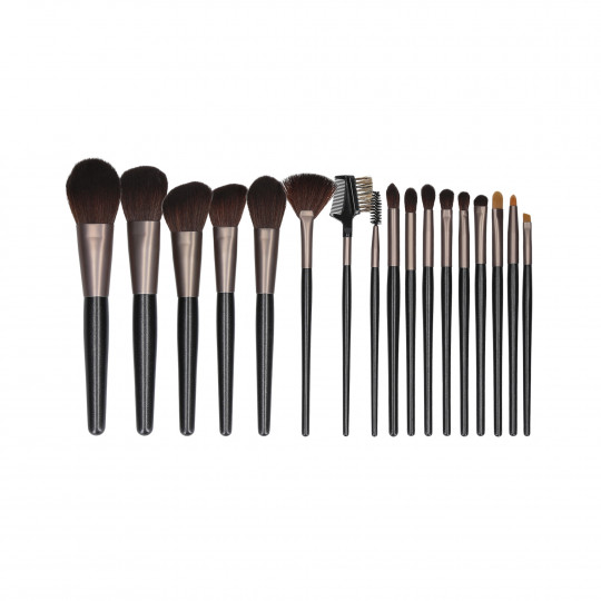 MIMO by Tools For Beauty, Set de 18 pinceaux à maquillage, Noir - 1