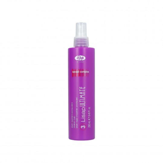 LISAP ULTIMATE 3 Straight Fluid Spray thermo protecteur pour le lissage des cheveux 250ml - 1