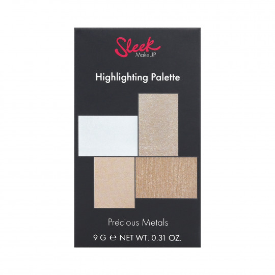 SLEEK MAKEUP Highlighter Palette 4 enlumineurs pour visage et corps - 1