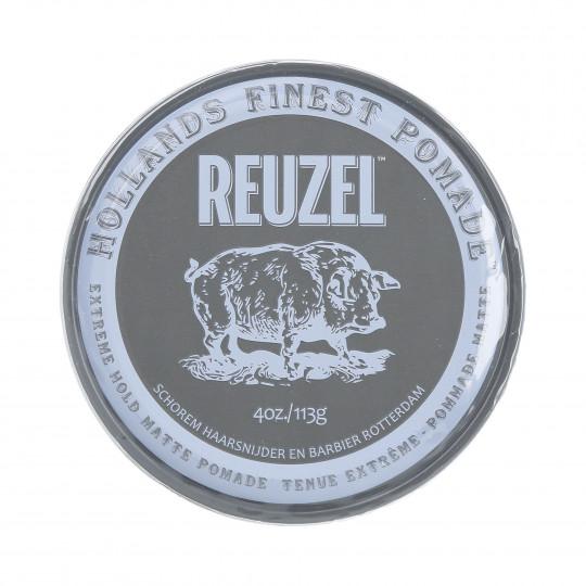 REUZEL EXTREME HOLD MATTE Pommade tenue extrême pour cheveux 113g - 1