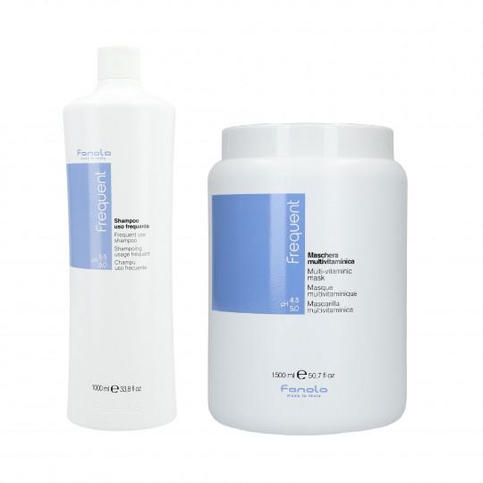 FANOLA FREQUENT Set pour cheveux Shampooing 1000 ml + Masque 1500 ml - 1