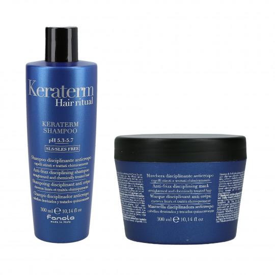 FANOLA KERATERM Set pour cheveux à la kératine, Shampooing 300ml + Masque 300ml - 1
