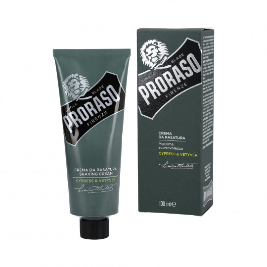 PRORASO SINGLE BLADE Crème à raser Cypress & Vetyver 100ml