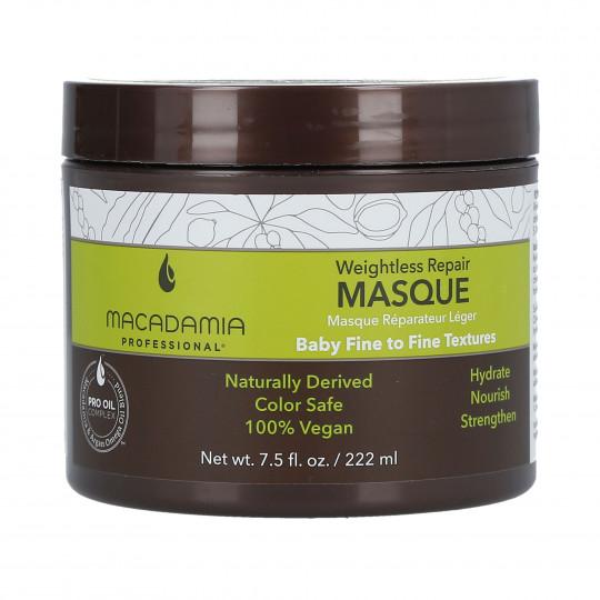 MACADAMIA WEIGHTLESS MOISTURE Masque réparateur léger 222ml - 1