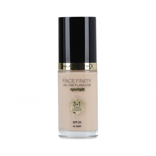 MAX FACTOR FACEFINITY All Day Flawless 3en1 Fond de teint SPF20 42 Ivory 30ml - 1