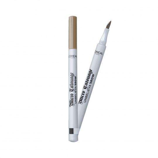 L'OREAL PARIS UNBELIEVA BROW Crayon sourcils 104 Chatain - 1