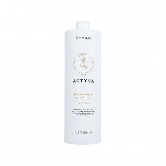 KEMON ACTYVA BELESSERE Shampooing velouté cheveux et corps 1000ml - 1