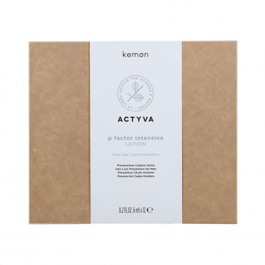 KEMON ACTYVA P FACTOR Traitement pour homme contre la chute des cheveux 12x6ml - 1