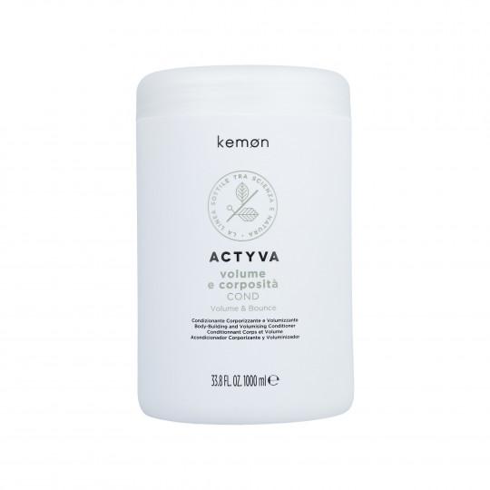 KEMON ACTYVA VOLUME & BOUNCE Après-shampooing sans volume 1000ml - 1