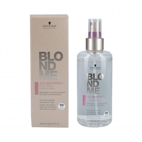 SCHWARZKOPF PROFESSIONAL BLONDME ALL BLONDES Spray baume léger 200ml - 1