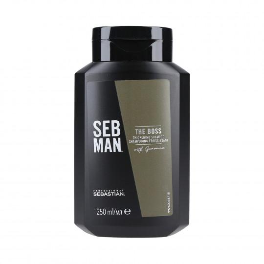 SEBASTIAN SEB MAN THE BOSS Shampooing épaississant cheveux 250ml - 1