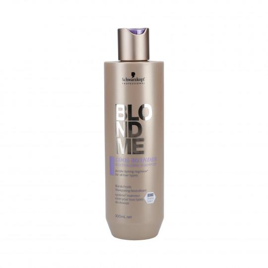 SCHWARZKOPF PROFESSIONAL BLONDME Shampooing Cool Me Blonde Violet 300ml - 1