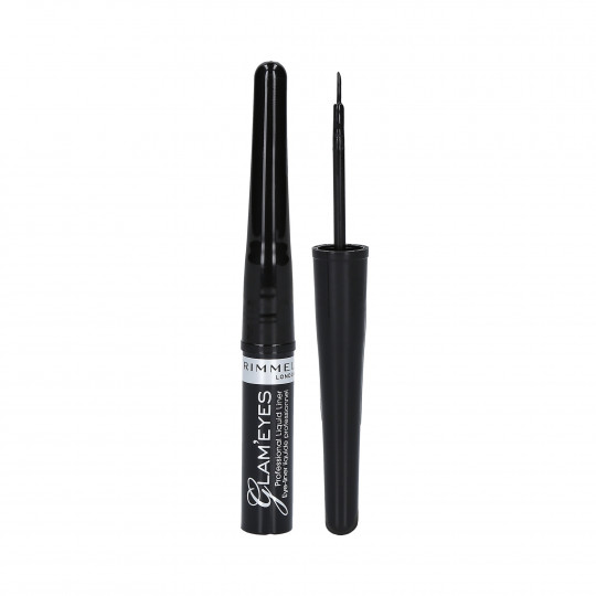 RIMMEL GLAM'EYES Eyeliner Liquide 001 Black Glamour 3.5ml - 1