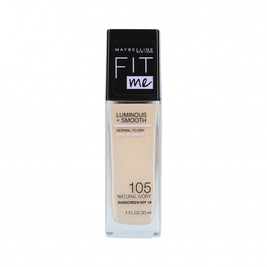 MAYBELLINE FIT ME LUMINOUS + SMOOTH Fond de Teint 105 Natural Ivory 30ml - 1