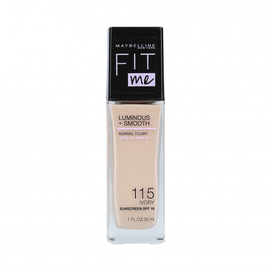 MAYBELLINE FIT ME LUMINOUS + SMOOTH Fond de Teint 115 Ivory 30ml - 1