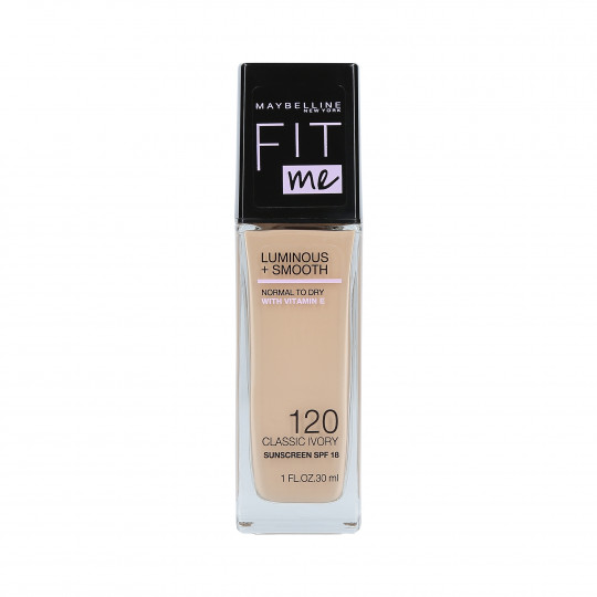 MAYBELLINE FIT ME LUMINOUS + SMOOTH Fond de Teint 120 Classic Ivory 30ml - 1