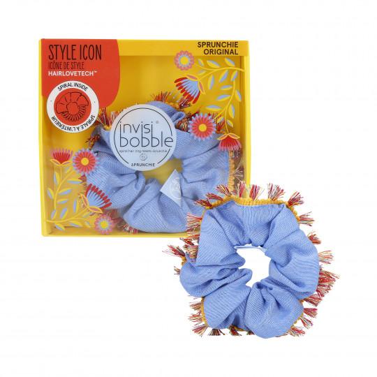 INVISIBOBBLE SPRUNCHIE Élastique à cheveux en velours Flores & Bloom Hola Lola - 1