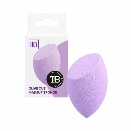 ilū Eponge à Maquillage Olive Coupée Violet